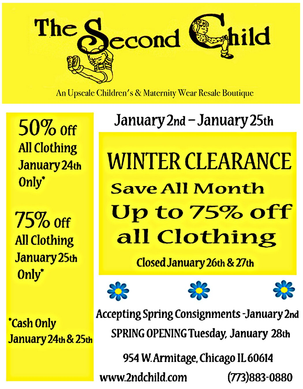 Winter Clearance – Save Up to 75% All Month
